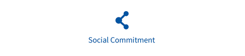 "Ein Symbol mit dem Text ""social commitment"""